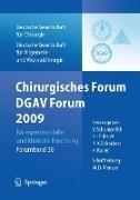 Cover-Bild zu Chirurgisches Forum und DGAV 2009 von Bruch, Hans-Peter (Hrsg.)