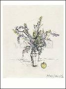 Cover-Bild zu Giacometti, Alberto (Künstler): Postkarte Blumenstrauss und Apfel, 1961