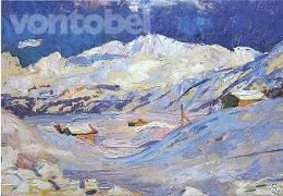 Cover-Bild zu Giacometti, Giovanni (Künstler): Doppelkarte Winterlandschaft mit Corvatsch, 1924