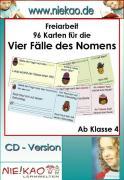 Cover-Bild zu Freiarbeit - Einführung der vier Fälle - Kartei 1 (eBook) von Kiel, Steffi
