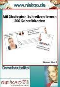Cover-Bild zu Mit Strategien Schreiben lernen - 200 Schreibkarten (eBook) von Kiel, Steffi