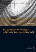 Cover-Bild zu Ernst, Ariane: Das vereinfachte Abrechnungsverfahren im Einkommenssteuerrecht