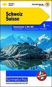 Cover-Bild zu Hallwag Kümmerly+Frey AG (Hrsg.): Schweiz Wanderkarte 1:301 000. 1:301'000