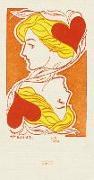 Cover-Bild zu Schöll, Stephan (Gestaltet): Zahl Farbe Trumpf Schmales Notizheft - Motiv Herzdame