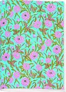 Cover-Bild zu Schöll, Stephan (Gestaltet): Gefährlich schön Besticktes Notizheft groß Motiv Rosa Blüten