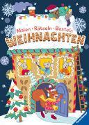 Cover-Bild zu Faust, Christine (Einbandgest.): Malen - Rätseln - Basteln: Weihnachten