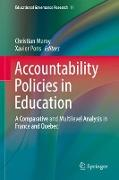 Cover-Bild zu Maroy, Christian (Hrsg.): Accountability Policies in Education