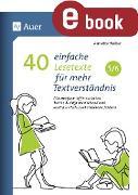 Cover-Bild zu 40 einfache Lesetexte für mehr Textverständnis 5-6 (eBook) von Weber, Annette