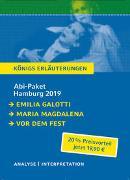 Cover-Bild zu Hebbel, Friedrich: Abitur Deutsch Hamburg 2019 & 2020 - Königs Erläuterungen-Paket