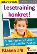 Cover-Bild zu Lesetraining konkret! / 5.-6. Schuljahr (eBook) von Stolz, Ulrike