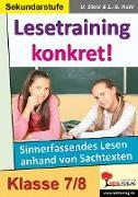 Cover-Bild zu Lesetraining konkret! / 7.-8. Schuljahr (eBook) von Stolz, Ulrike