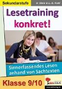Cover-Bild zu Lesetraining konkret! / 9.-10. Schuljahr (eBook) von Stolz, Ulrike