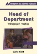 Cover-Bild zu Gold, Anne: Head of Department (eBook)