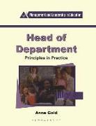 Cover-Bild zu Gold, Anne: Head of Department