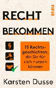 Cover-Bild zu Recht bekommen (eBook) von Dusse, Karsten