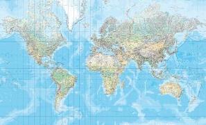 Cover-Bild zu Welt physikalisch Poster (d, e, f). 1:20'000'000