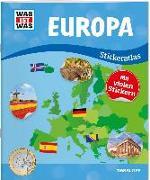 Cover-Bild zu WAS IST WAS Stickeratlas Europa von Hebler, Lisa