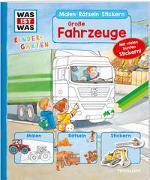Cover-Bild zu WAS IST WAS Kindergarten Malen Rätseln Stickern Große Fahrzeuge von Herden, Lisa