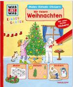 Cover-Bild zu WAS IST WAS Kindergarten Malen Rätseln Stickern Wir feiern Weihnachten von Herden, Lisa