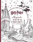 Cover-Bild zu Harry Potter: Magische Orte & Figuren Malbuch von Panini (Hrsg.)