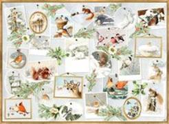 Cover-Bild zu A4-Wandkalender - Marjoleins Wintergalerie von Bastin, Marjolein (Illustr.)