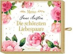 Cover-Bild zu Schachtelspiel - Memo - Jane Austen - Die schönsten Liebespaare von Bastin, Marjolein (Illustr.)