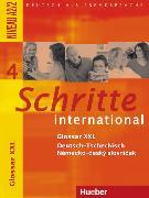 Cover-Bild zu Schritte international 4. A2/2. Glossar XXL Deutsch - Tschechisch