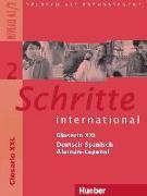 Cover-Bild zu Schritte international 2. A1/2. Glosario XXL Deutsch-Spanisch - Alemán-Español von Braucek, Brigitte (Übers.)