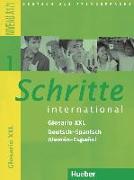 Cover-Bild zu Schritte international 1. A1/1. Glosario XXL Deutsch-Spanisch - Alemán-Español