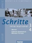 Cover-Bild zu Schritte international 3 + 4. A2. Glossar Deutsch-Französisch Allemand-Français