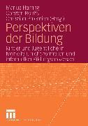 Cover-Bild zu Perspektiven der Bildung (eBook) von Harring, Marius (Hrsg.)