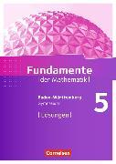 Cover-Bild zu Fundamente der Mathematik 5. Schuljahr. Lösungen. BW von Pallack, Andreas (Hrsg.)