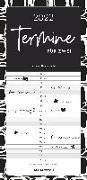 Cover-Bild zu Alpha Edition (Hrsg.): Termine für 2 Black and White 2022 Familienplaner - Timer - Termin-Planer - Couple-Kalender - Familien-Kalender - 22x45