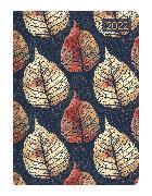 Cover-Bild zu ALPHA EDITION (Hrsg.): Mini-Buchkalender Style Leaves 2022 - Taschen-Kalender A6 - Blatt - Day By Day - 352 Seiten - Notiz-Buch - Alpha Edition
