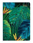 Cover-Bild zu ALPHA EDITION (Hrsg.): Mini-Buchkalender Style Jungle 2022 - Taschen-Kalender A6 - Dschungel - Day By Day - 352 Seiten - Notiz-Buch - Alpha Edition