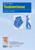 Cover-Bild zu Krämer, Heinrich: Teubnerianae