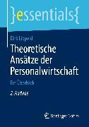 Cover-Bild zu Lippold, Dirk: Theoretische Ansätze der Personalwirtschaft (eBook)