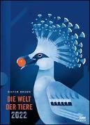 Cover-Bild zu Braun, Dieter (Illustr.): Dieter Braun: Die Welt der Tiere 2022 - Wandkalender - Poster-Format 50 x 70 cm
