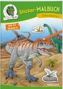 Cover-Bild zu Sticker-Malbuch Dinosaurier von Walther, Max (Illustr.)