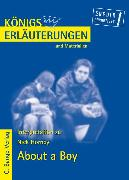 Cover-Bild zu Hornby, Nick: About a Boy von Nick Hornby. Textanalyse und Interpretation (eBook)