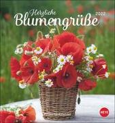 Cover-Bild zu Heye (Hrsg.): Herzliche Blumengrüße Postkartenkalender 2022