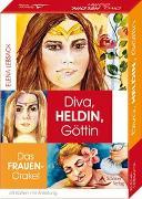 Cover-Bild zu Diva, Heldin, Göttin- Das Frauen-Orakel Kartenset von Lebsack, Elena