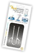 Cover-Bild zu Flexistand Silver Dots - superflacher Aufsteller für Smartphones und Mini-Tablets, Handyhalter