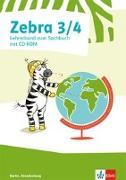 Cover-Bild zu Zebra Sachunterricht 3/4. Lehrerband mit Kopiervorlagen und CD-ROM