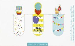Cover-Bild zu Magnetlesezeichen Happy Birthday