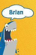 Cover-Bild zu Brian: Personalized Shark Blood Sugar Diet Diary Journal Log Featuring 120 Pages 6x9 von Cole, Rob