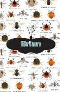 Cover-Bild zu Brian: Bug Insect Isometric Dot Pape Book Notebook Journal Book 120 Pages 6x9 von Cole, Rob