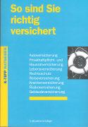 Cover-Bild zu So sind Sie richtig versichert von Meierhofer, Ernst