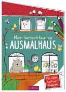 Cover-Bild zu Mein tierisch buntes Ausmalhaus von Benz, Karolina (Illustr.)