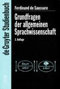 Cover-Bild zu Grundfragen der Allgemeinen Sprachwissenschaft von Saussure, Ferdinand de